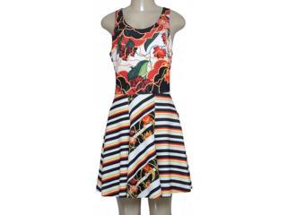 Vestido Feminino Morena Rosa 104210 Estampado Preto/vermelho - Tamanho Médio