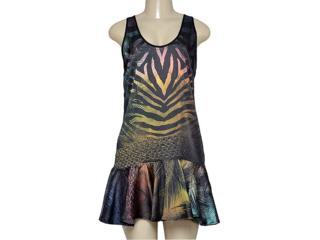 Vestido Feminino Triton 441403362 Preto Estampado - Tamanho Médio