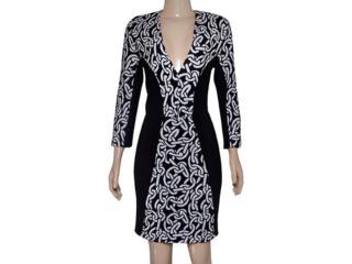 Vestido Feminino Triton 441403409 Preto/branco - Tamanho Médio