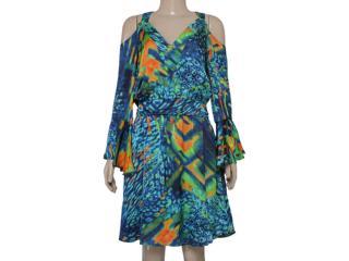 Vestido Feminino Zinco 102961 Estampado - Tamanho Médio