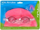 óculos/touca/prot de Ouvido Fem Infantil Poker 13050 Kit Rosa
