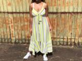 Vestido Feminino Mercatto 2837037 Verde Listrado